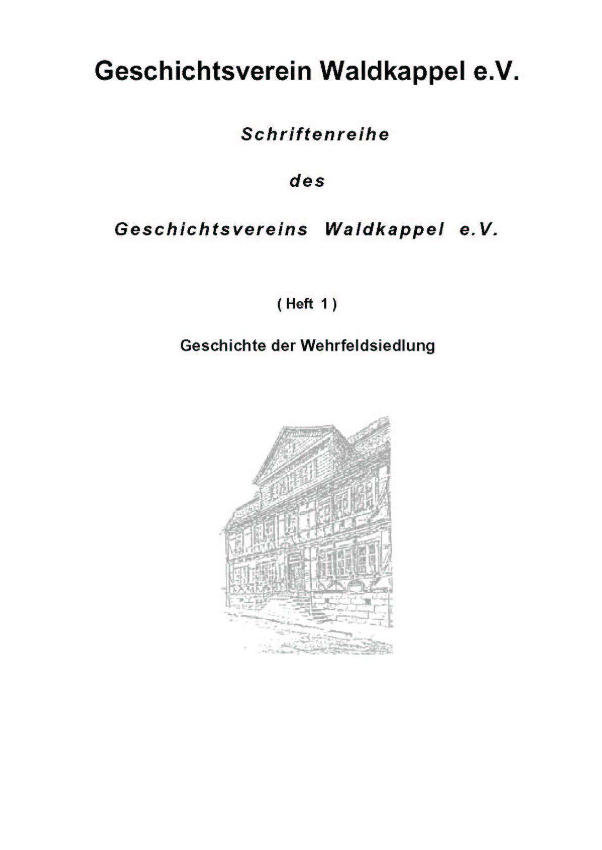 Schriftenreihe Heft 1 -